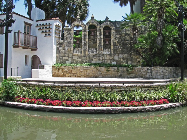 Theater stage on the San Antonio Riverwalk